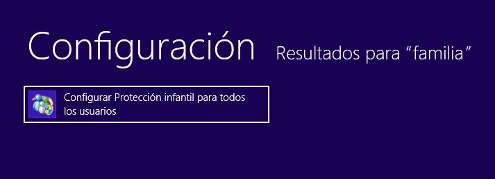 protección infantil usuarios