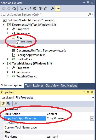 Unit Test Files Windows 8